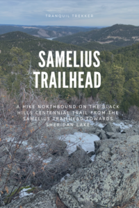 I give a detailed account of the northbound hike from the Samelius Trailhead towards Sheridan Lake. I also stress the importance of always bringing extra gear, on the trail, and the dangers of hiking solo.