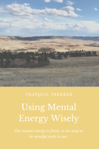 We have a limited amount of mental energy available to us each day. Let's be mindful about how we use it.