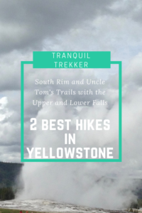 Check out the South Rim and Uncle Tom's Trails that offer views of the Upper and Lower Falls in the Grand Canyon of Yellowstone!