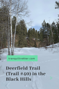 Have you been looking for an easy, more lightly traveled, scenic hike in the Black Hills? Read on for my review of the Deerfield Trail (Trail #40)!
