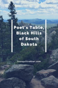 """Do you enjoy searching for hidden places? Read on for some tips to discover the """"secret"""" Black Hills landmark, Poet's Table."""