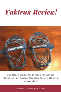 Hoping to stay upright during those slippery, winter months? Check out Yaktrax, a must-have, gear item for the cold season!