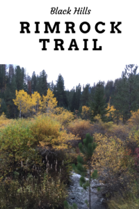 Looking for a great place to view fall colors in the Black Hills? Check out Rimrock Trail, that traverses quieter parts of Spearfish Canyon!