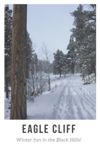 Are you looking for a great place to cross-country ski or snowshoe in the northern, Black Hills? Check out the Eagle Cliff ski area!